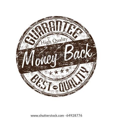 Brown grunge rubber stamp with the text money back guarantee written inside the stamp - stock vector