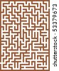 Brown labyrinth - stock vector