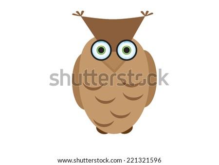 brown owl  - stock vector