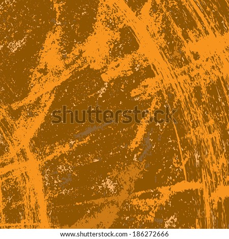 Brown Painted Grunge texture for your design. EPS10 vector. - stock vector