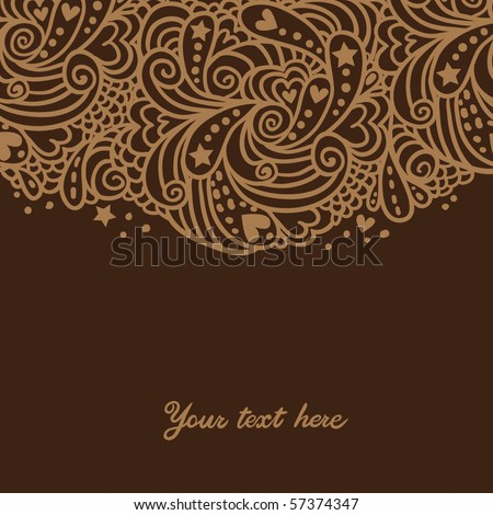 brown paisley background