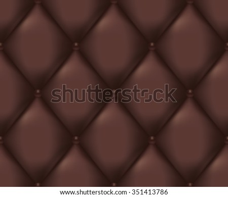 Brown Quilted Seamless Vector Pattern. Vector background made with gradient mesh. Great for luxury and VIP projects.