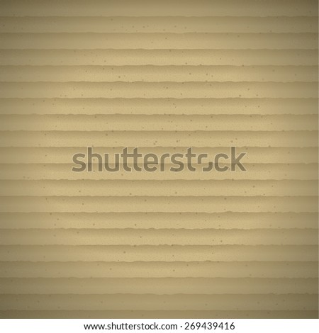 Brown Realistic Cardboard Texture - stock vector