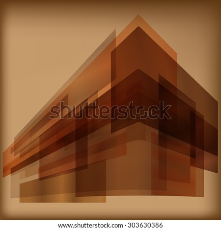 Brown rectangles abstract background - stock vector