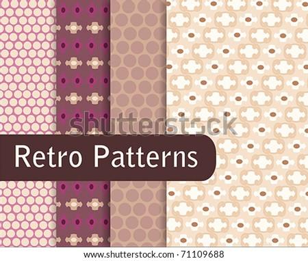 Brown Retro Patterns - stock vector