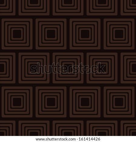 Brown seamless pattern with squares. Vector illustration - stock vector