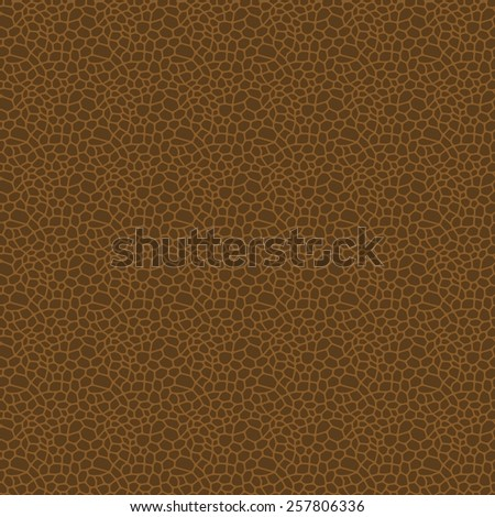 Brown seamless vector leather texture background pattern - stock vector