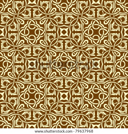 Brown seamless wallpaper pattern - stock vector