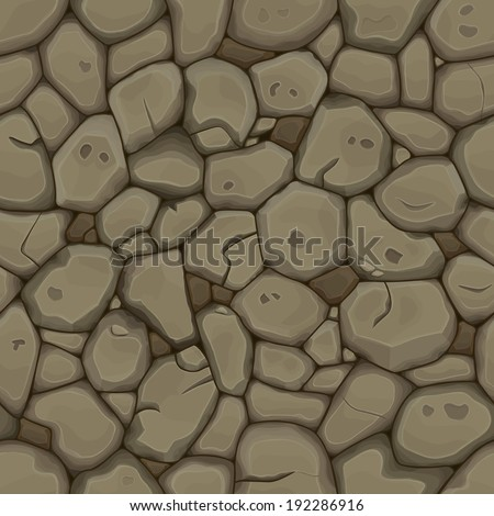 Brown stone seamless background. Vector illustration - stock vector