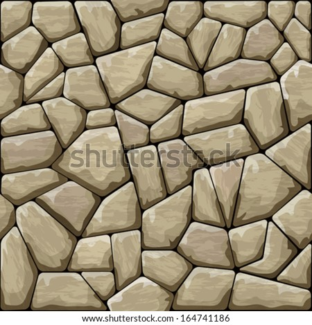 Brown stone seamless pattern - stock vector