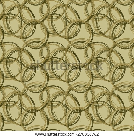 brown tone of Abstract pattern from circle hand drawn form - stock vector