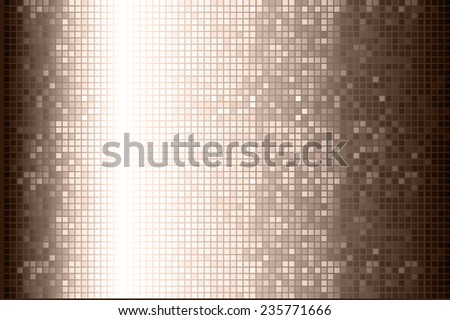Brown Vector abstract design. pixels mosaic background computer graphic website and internet.  - stock vector