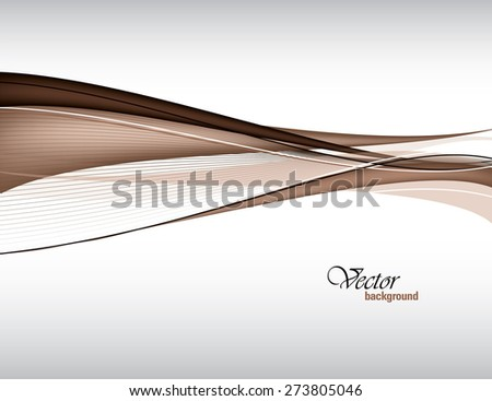 Brown Vector Modern Wavy Background. Eps10.