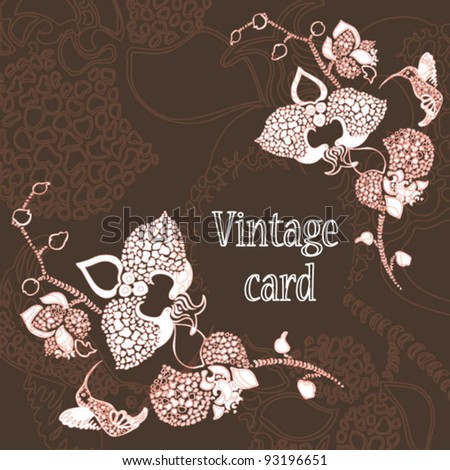 Brown vintage card