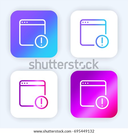 Browser bright purple and blue gradient app icon