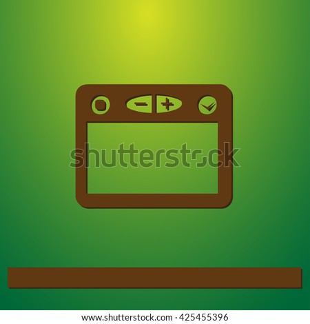 Browser icon, vector illustration. Flat design style - stock vector
