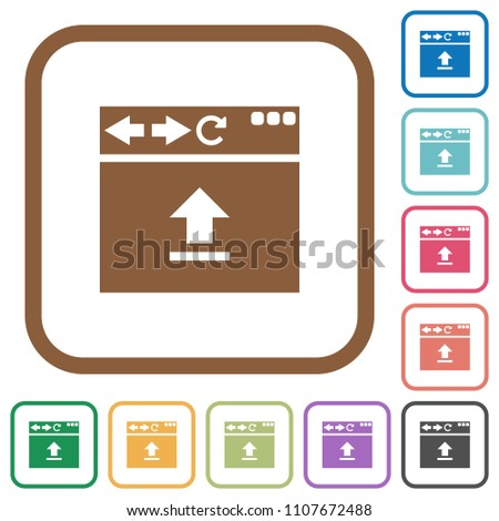 Browser Upload Simple Icons Color Rounded Stock Vector 1107672488 ...