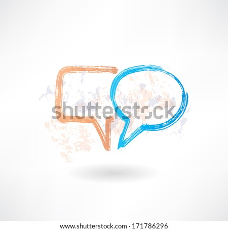 Brush empty speech bubbles icon. - stock vector