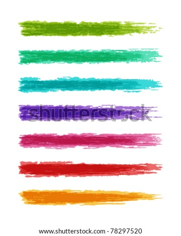 Brush paint splashes set vector illustration. Eps 10. - stock vector