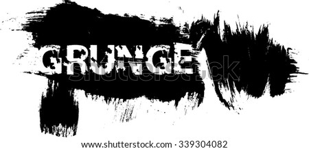 Brush Stroke . Grunge Banner . Vector .