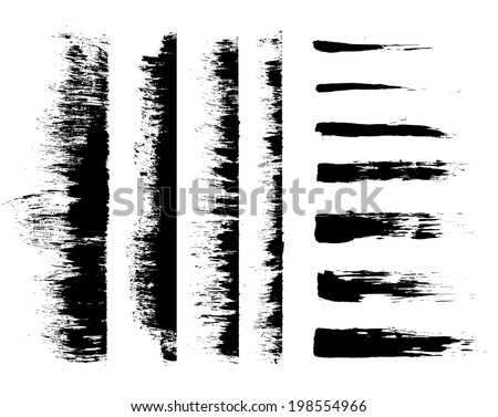 brush stroke - grunge painting . a set of vector brush stroke - grunge painting. - stock vector