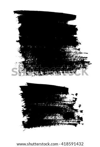 Brush strokes set vector  - stock vector