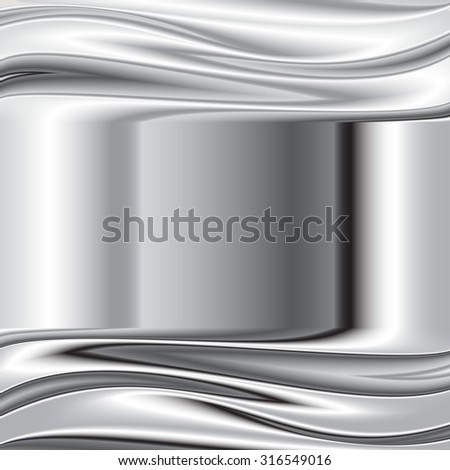 brushed metal texture, vector background, abstract modern iron glass background 3 - stock vector