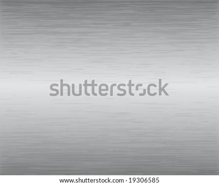 Brushed Metal Texture Vector Illustration - stock vector