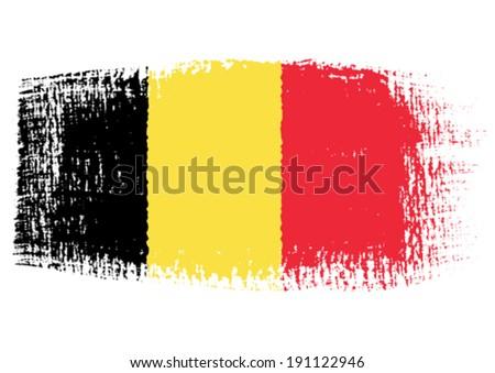 brushstroke flag Belgium - stock vector