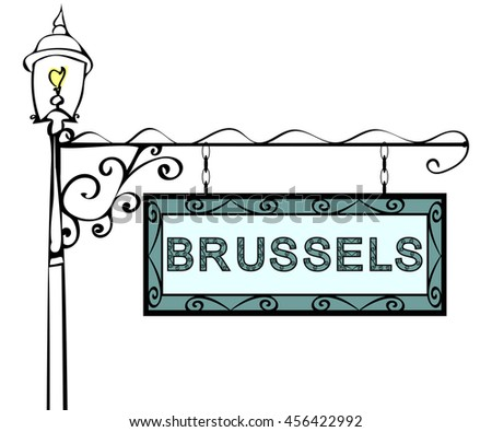 Brussels retro vintage lamppost pointer.