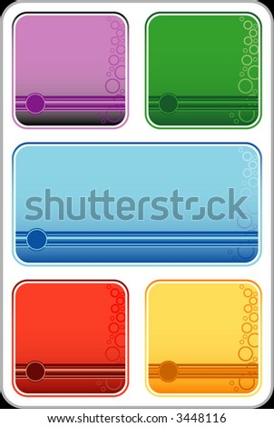 bubble backgrounds - stock vector