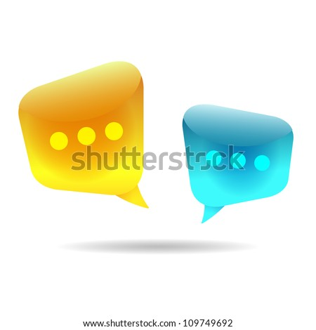 Bubble Chat (Vector illustration of chat room discussion) - stock vector
