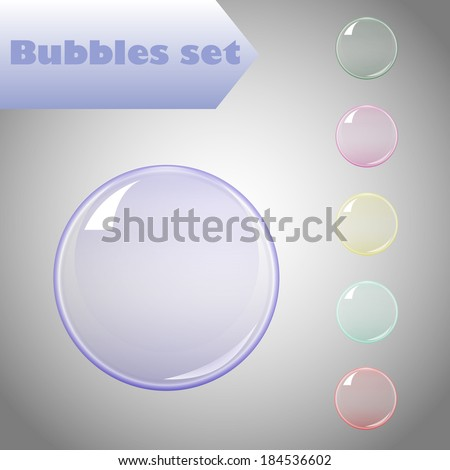 Bubble color set for you design - stock vector