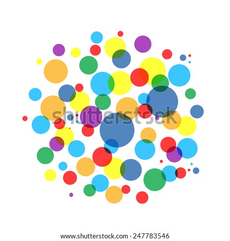 Bubble colorful frame for your design. Vector illustration - stock vector