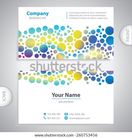 Bubble decorative pattern - universal business card - information label - company presentations - decorative background - stock vector - stock vector