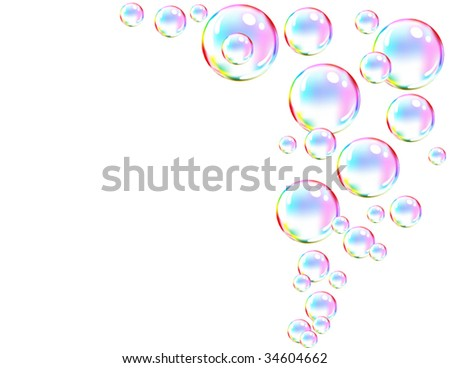 bubble frame - stock vector