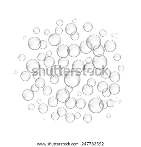 Bubble frame for your design. Vector illustration - stock vector