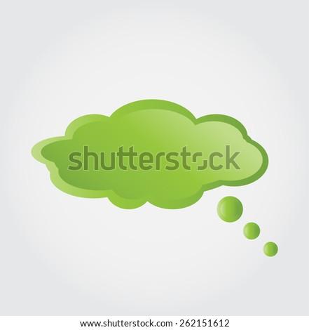 bubble green cloud - stock vector