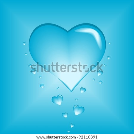 Bubble heart - stock vector