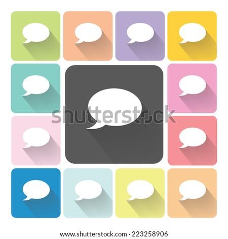 Bubble Icon color set vector illustration. - stock vector