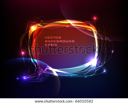 bubble made of light - stock vector