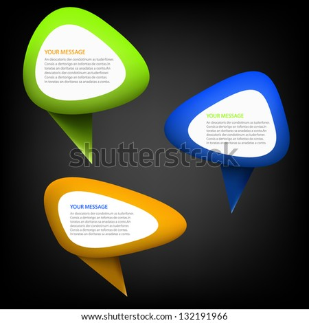 Bubble symbol vector background object icon collection for message design eps10