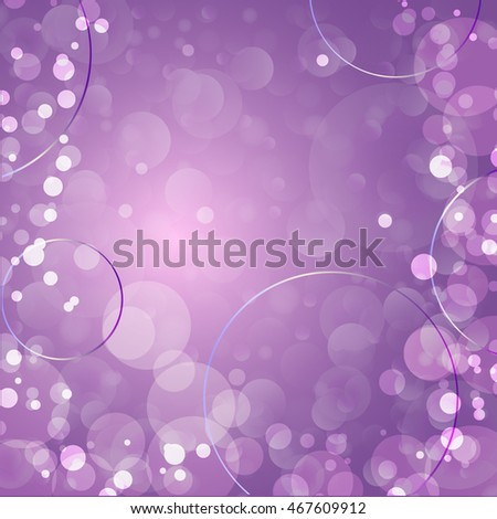 Bubbles abstract lilac background.