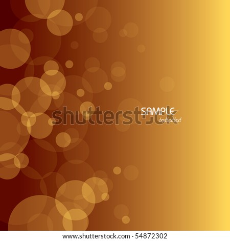 Bubbles Background. Abstract Illustration. - stock vector