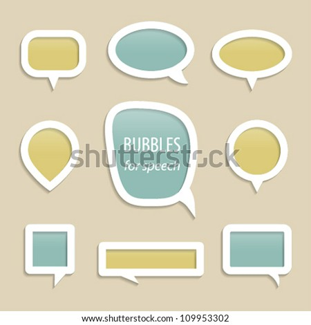 Bubbles for speech collection. Vector illustration. - stock vector