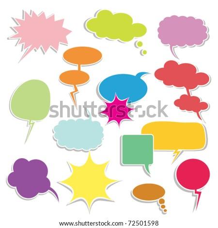 Bubbles for speech. Seamless - stock vector