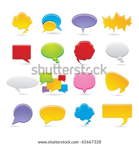 bubbles icons - stock vector