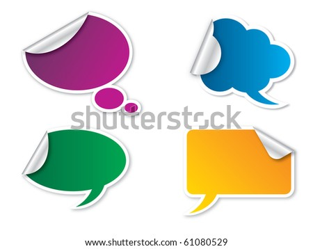bubbles of text such as stickers and labels - stock vector