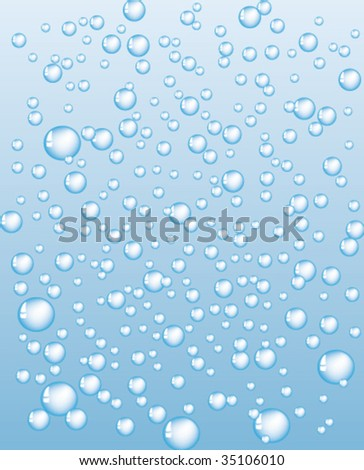 bubbles on blue background