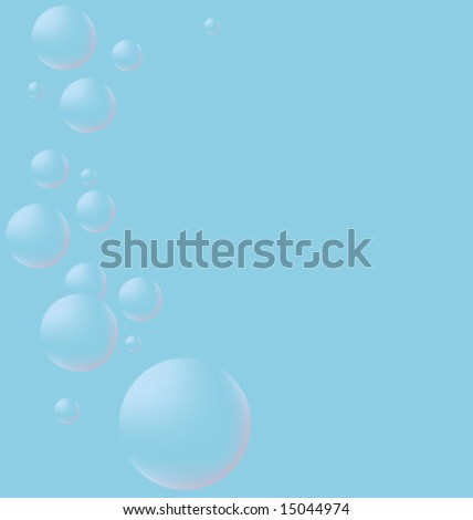 Bubbles on the left. - stock vector